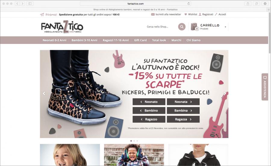 Screenshot sito Fantaztico