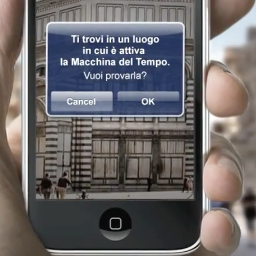 screenshot app mobile Firenze Time Machine