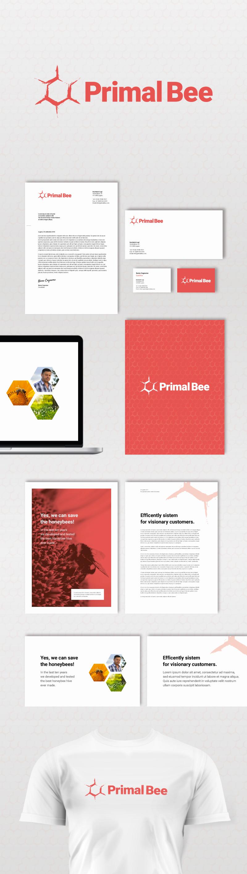 Primal Bee brand identity