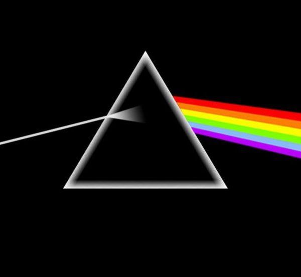 prisma che riflette la luce